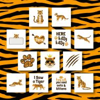 13 Terrific Tigers Embroidery Design Pack