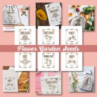 6 Flower Garden Seeds Embroidery Design Pack