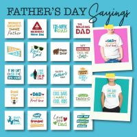 20 Father's Day Sayings Embroidery Design Pack