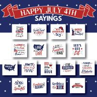 17 Happy July 4th Sayings Embroidery Design Pack