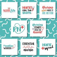 8 Nurse Life Embroidery Design Pack