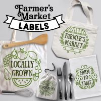 16 Farmer's Market Labels Embroidery Design Pack