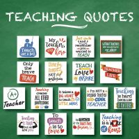 17 Teaching Quotes Embroidery Design Pack