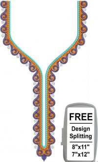 spitted neck embroidery design