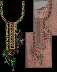crooss stitch neck embroidery design