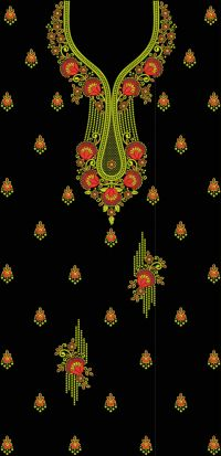 panel embroidery design