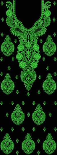 Neck embroidery design+250
