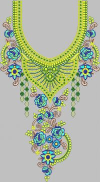 neck embroidery design 250