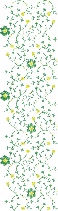 sequin jaal embroidery design