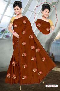 butta concept embroidery saree design