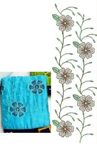 CHAIN JALL PALLU EMBROIDERY DESIGN
