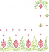 cording saree embroidery design