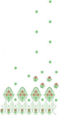 Pallu scat saree embroidery design