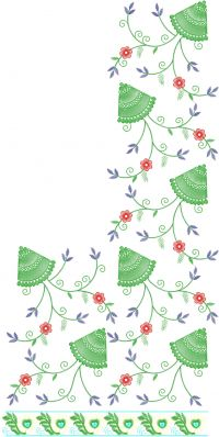 jaal saree embroidery design