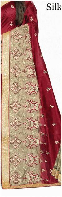 peaking saree embroidery design