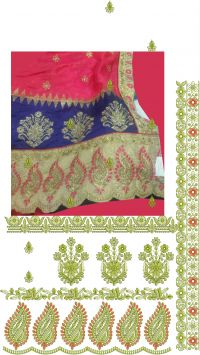 cuting pasting saree embroidery design