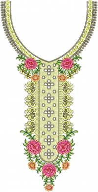 neck embroidery design