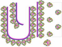 Elephant Style Blouse Design for big frame embroidery machine