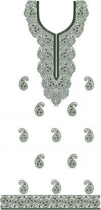 jari panel top embroidary design
