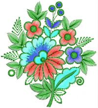 flower embroidary design