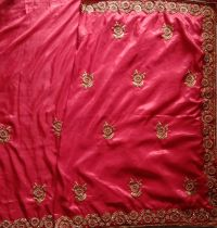 c pallu saree embroidery design