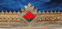 blad cuting  saree embroidery design
