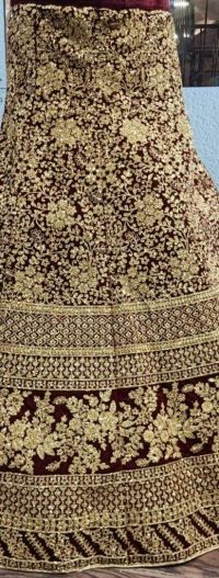 bridal lehengha cording embroidery design