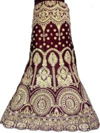 Bridal lahengha embroidery design