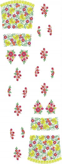 new garalish lengha choli embroidery design