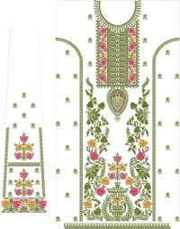 long suite with plazo embroidery design