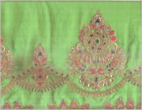coding pallu skirt embroidery design