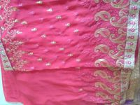 panel saree embroidery design