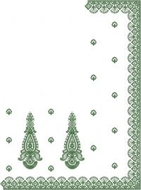 diamond test c pallu embroidary design