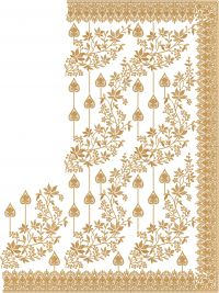 jaal c pallu embroidery design
