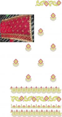Cat Pesast saree concept embroidery design