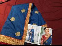 pallu skirt saree embroidery designs