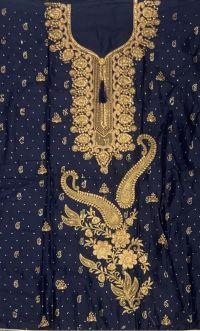 singal jari suit embroidery design