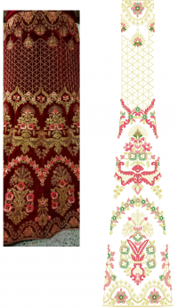 Bridal Lehengha Full Set Embroidery Designs