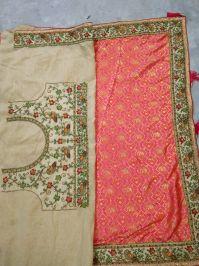 lace saree embroidery design