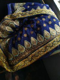 malti saree embroidery design