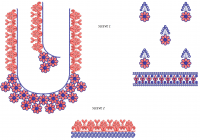 Blouse Design for Big Frame Embroidery Machine