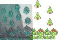 GREY JARI SAREE EMBROIDERY DESIGN