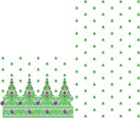 Daman concept saree embroidery design