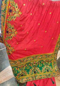 gamthi saree embroidery design