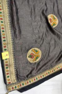 less pallu skt saree embroidery design