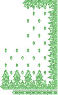 Daymond Test C Pallu saree embroidery design