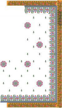 diamond c pallu with lace design