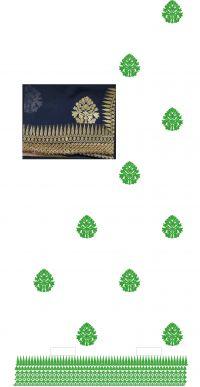single jaree saree