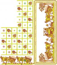 BOX PALLU SAREE EMBROIDERY DESIGN