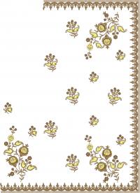 C-Pallu,diamond concept-corner patli,skirt patli